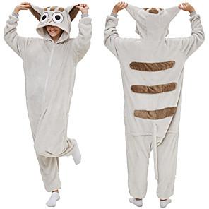 cheap Kigurumi Pajamas-Adults' Kigurumi Pajamas Bear Onesie Pajamas Flannel Black / White Cosplay For Men and Women Animal Sleepwear Cartoon Festival / Holiday Costumes / Leotard / Onesie / Leotard / Onesie