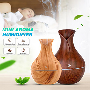 cheap Humidifiers-Vase Air Humidifier USB Aroma Oil Diffuser Wood crack Electric lamp Humidifier Ultrasonic Aromatherapy Mist Maker for Home