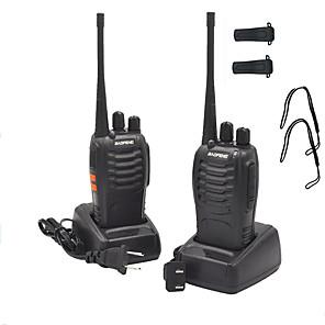cheap Walkie Talkies-2PCS Walkie Talkie Baofeng BF-888S 1500mAh 16CH UHF 400-470MHz Baofeng 888S Ham Radio HF Transceiver Amador Portable Intercoms Super Sound Quality