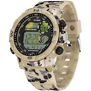 cheap Sport Watches-SYNOKE Digital Watch Digital Sporty Stylish Silicone 30 m Water Resistant / Waterproof Calendar / date / day LCD Digital Outdoor Fashion - Green Red Blue