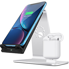 cheap Wireless Chargers-10 W Wireless Charger USB Charger USB Wireless Charger 1 USB Port 2 A / 1.67 A DC 9V / DC 5V for Apple Watch Series 4/3/2/1 iPhone 11 / iPhone 11 Pro / iPhone 11 Pro Max