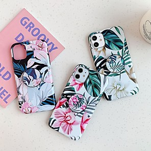 cheap iPhone Cases-Case For Apple iPhone 11 / iPhone 11 Pro / iPhone 11 Pro Max Shockproof / with Stand / Frosted Back Cover Tile / Tree / Flower PC