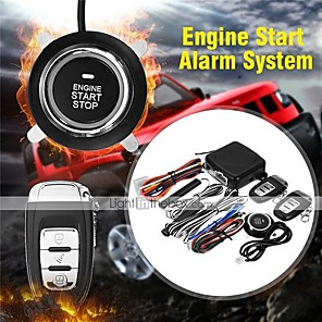 cheap Car Alarms-9Pcs/Set Car SUV Keyless Entry Push Start System Engine Start Button Alarm System Push Button Remote Starter Stop Auto for Volkswagen Audi