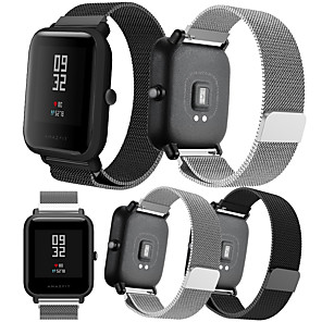 cheap Smartwatch Bands-Smartwatch Band for Amazfit Bip Younth Watch / Amazfit Bip / Bip Lite / GTS /  GTR 42mm Huami Amazfit sport Band Fashion Milanese Loop Stainless Steel Wrist Strap 20mm