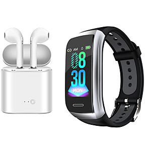 cheap Smartwatches-Indear DS8 Women Smart Bracelet Smartwatch Android iOS Bluetooth Waterproof with TWS Bluetooth Wireless Headphones Music Headphones