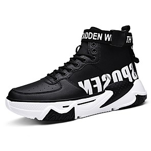 cheap Women's Boots-Men's Comfort Shoes Mesh Winter Athletic Shoes Black / Black and White / White