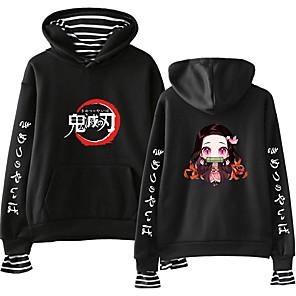 cheap Everyday Cosplay Anime Hoodies & T-Shirts-Inspired by Demon Slayer: Kimetsu no Yaiba Cosplay Cosplay Costume Hoodie Cotton Fibre Print Printing Hoodie For Men's / Women's