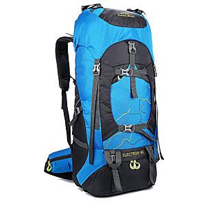 cheap Backpacks & Bags-60 L Hiking Backpack Rucksack Multifunctional Waterproof Rain Waterproof Moistureproof Outdoor Camping / Hiking Hunting Climbing Oxford Black Blushing Pink Green