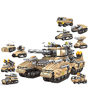 cheap Building Blocks-Building Blocks 1048 pcs Military compatible ABS+PC Legoing Simulation Military Vehicle All Toy Gift / Kid's
