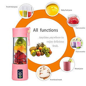 cheap Humidifiers-4 blades 380ml Portable Juicer Electric USB Rechargeable Smoothie Blender Machine Mixer Mini Juice Cup Maker fast Blenders food processor