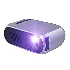 cheap Projectors-YG210 LED Mini Portable ProjectorHome Theater Cinema 600 lumen 3.5mm Audio Support 1080p HD Playback HDMI USB Projector Home Media Player