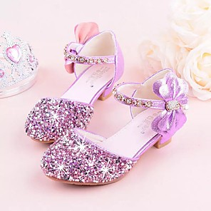cheap Phone Mounts & Holders-Girls' Tiny Heels for Teens Synthetics Heels Little Kids(4-7ys) / Big Kids(7years +) Crystal Purple / Pink / Silver Summer