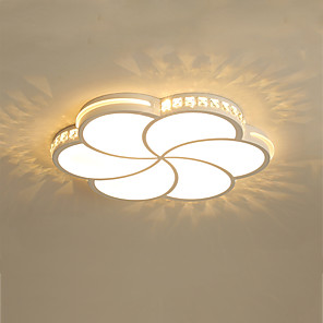 cheap Ceiling Lights-1-Light Modern 6 - Petal LED Ceiling Lamp Stylish Flower - Shaped Ceiling Lamp Bedroom Lamp
