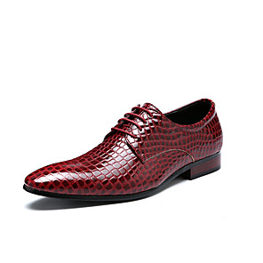 cheap Men's Oxfords-Men's Formal Shoes Leather Spring & Summer / Fall & Winter Business / Casual Oxfords Breathable Black / Red / Blue