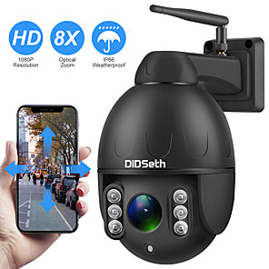 cheap Indoor IP Network Cameras-DIDSeth 1080P PTZ IP Camera Wifi Outdoor Speed Dome Wireless Wifi Security Camera Pan Tilt 8X Digital Zoom 2MP Network CCTV Camera