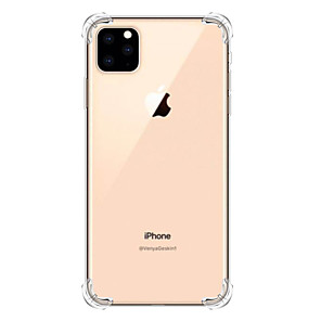 billige iPhone-etuier-Etui Til Apple iPhone 11 / iPhone 11 Pro / iPhone 11 Pro Max Støtsikker Bakdeksel Gjennomsiktig TPU