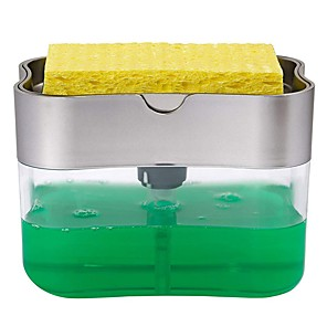 cheap Cleaning Protection-Soap Holder Rack And Dispenser Sponge Rack Soap Dispenser And Sponge Caddy