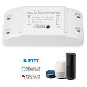 cheap Smart Switch-Wifi DIY Smart Wireless Remote Switch Domotica Light Controller Module Work with Alexa Google Home eWeLink