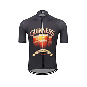 cheap Cycling Jerseys-21Grams Men's Short Sleeve Cycling Jersey Dark Navy Oktoberfest Beer Bike Jersey Top Mountain Bike MTB Road Bike Cycling UV Resistant Breathable Quick Dry Sports Clothing Apparel / Stretchy