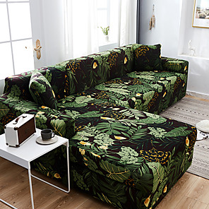 cheap Sofa Cover-Modern Sofa Cover Elastic Floral Polyester 1/2/3/4 Seater Couch Sofa Slipcover for Living Room Furniture Protector