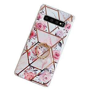cheap Samsung Case-Case for Samsung scene map Samsung Galaxy S20 S20 Plus S11 Plus A50 A70 ProStitching retro flower pattern electroplated diamond TPU material IMD process Ring stand all-inclusive mobile phone case
