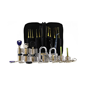 cheap Novelties-Unlocking Tool Set - Transparent 7-Piece Transparent Lock  24-Piece Single Hook