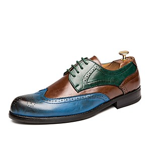cheap Men's Oxfords-Men's Comfort Shoes Microfiber Fall & Winter Oxfords Brown / Red / Blue