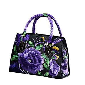 cheap Handbag & Totes-Women's Cowhide Tote Geometric Pattern Black / Blue