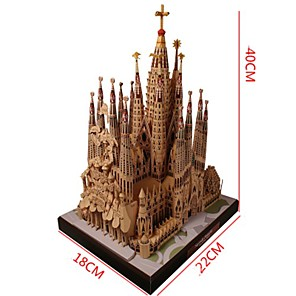 cheap 3D Puzzles-3D Puzzle Paper Model Famous buildings Church Cathedral DIY Hard Card Paper Kid's Unisex Toy Gift