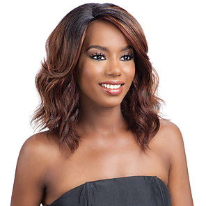 cheap Synthetic Lace Wigs-Synthetic Wig Curly Asymmetrical Wig Long Black / Brown Synthetic Hair 27 inch Women's Best Quality Light Brown
