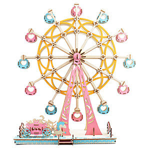 cheap Wooden Puzzles-Ferris Wheel 3D Puzzle Wooden Puzzle Metal Puzzle Model Building Kit Wooden Model Metal Kid's Adults' Toy Gift