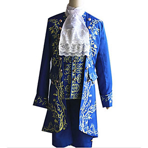 cheap Lolita Dresses-Prince Cosplay The Beast and Beauty Blazer Jacket & Pants Shirt Men's Halloween Carnival Festival / Holiday Elastane Tactel Men's Carnival Costumes Vintage / Top / Tie / Vest / Vest / Top