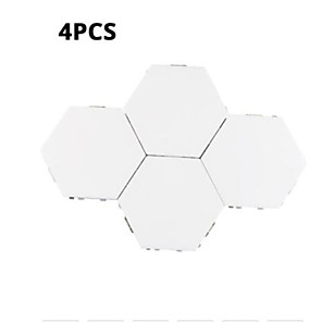 cheap Projectors-Four Modular Touch Sensitive Lighting Hexagonal Lights Creative Magnetic Night Light Wall Decoration Lampara