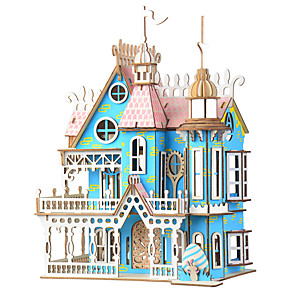 cheap Wooden Puzzles-3D Puzzle Jigsaw Puzzle Model Building Kit Famous buildings House DIY Wooden Classic Adults' Unisex Toy Gift