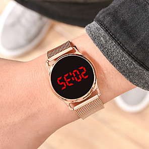 cheap Sport Watches-Men's Sport Watch Digital Silicone Black / Silver / Gold No Chronograph Cute Luminous Digital Outdoor New Arrival - Black Rose Gold Gold One Year Battery Life