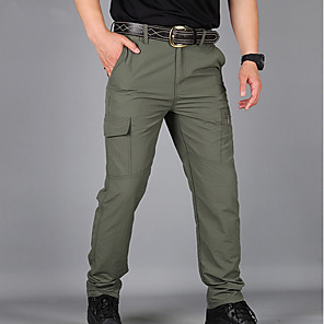 cheap Hiking Trousers & Shorts-Men's Basic Sweatpants Pants Solid Colored High Waist Black Khaki Green US32 / UK32 / EU40 US34 / UK34 / EU42 US36 / UK36 / EU44