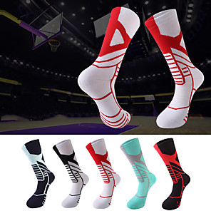 cheap Wall Stickers-Compression Socks Athletic Sports Socks Running Socks 1 Pair Men's Women's Tube Socks Socks Compression Socks Breathable Sweat-wicking Comfortable Running Active Training Jogging Sports Color Block