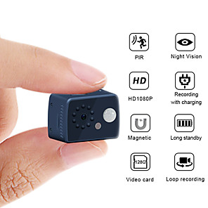 cheap Indoor IP Network Cameras-1080P HD Mini Camera 2 mp Motion Detection PIR Camera Night Vision DVR Camcorder Sport Small Camera DV Video Human Body Inductive Camera