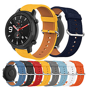 cheap Smartwatch Bands-Luxury Leather Watch Band For Huami Amazfit GTR 47mm / Stratos 3 / Stratos 2 2S / Pace Watch Replaceable Bracelet Wrist Strap Wristband