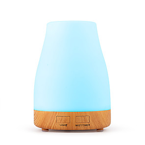 cheap Humidifiers-aroma diffuser 300ml humidifier Ultrasonic fragrance lamp Atomization Electric diffuser with 7 colors LED Essential oils Humidifier for home yoga office SPA bedroom