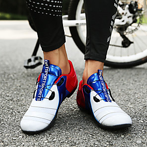 cheap Cycling Jersey & Shorts / Pants Sets-Adults' Bike Shoes Mountain Bike Shoes Road Bike Shoes Nylon Breathable Anti-Slip Mountain Bike MTB Road Cycling Outdoor Exercise Red / White Orange+White Blue+Orange Men's Women's Cycling Shoes