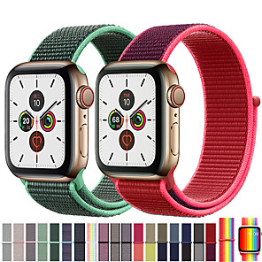 cheap Smartwatch Bands-Band For Apple Watch Series 3/2/1 38MM 42MM Nylon Soft Breathable Replacement Strap Sport Loop for iwatch series 4 5 40MM 44MM