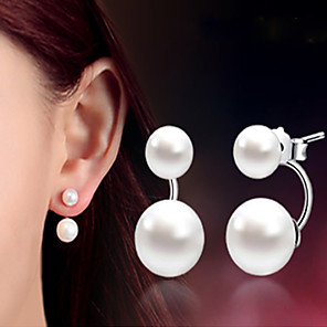 cheap Earrings-Women's Pearl Earrings Classic Music Notes Stylish Artistic Luxury Trendy Korean Platinum Plated Gold Plated Earrings Jewelry Silver For Christmas Gift Daily Work Festival 1 Pair