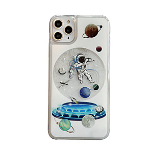 cheap iPhone Cases-Case For Apple iPhone 11 / iPhone 11 Pro / iPhone 11 Pro Max Shockproof / Flowing Liquid / Transparent Back Cover Cartoon TPU