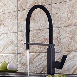 cheap Kitchen Faucets-Kitchen faucet - Single Handle One Hole Electroplated Pull-out / Pull-down / Tall / High Arc Centerset Contemporary Kitchen Taps