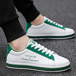 cheap Men's Sneakers-Men's Comfort Shoes Microfiber Fall & Winter Sneakers Black / Green / Red