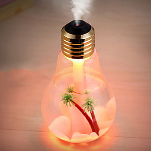 cheap Humidifiers-400ml LED Lamp Air Ultrasonic Humidifier Essential Oil Diffuser Atomizer Air Freshener Mist Maker with LED Night light bulb