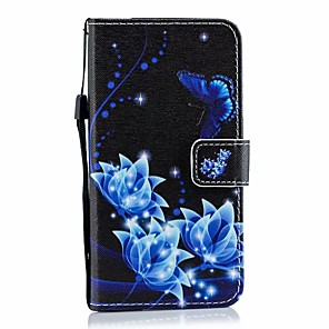 cheap Samsung Case-Case For Galaxy S9 / S9 Plus / S8 Plus Palace flower PU Leather with Card Slot Flip up and down For Galaxy S10 / S10 Plus / S7 EDGE