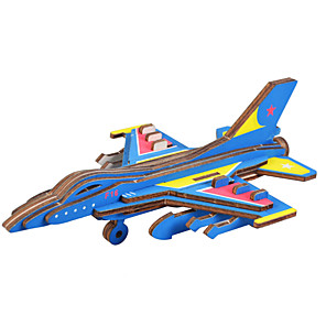 cheap 3D Puzzles-Plane / Aircraft 3D Puzzle Wooden Puzzle Metal Puzzle Model Building Kit Wooden Model Metal Kid's Adults' Toy Gift
