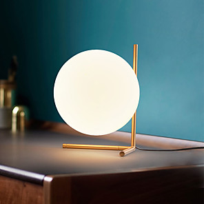 cheap Table Lamps-Reading Light Artistic Modern Contemporary For Living Room Bedroom Glass 110-120V 220-240V Gold